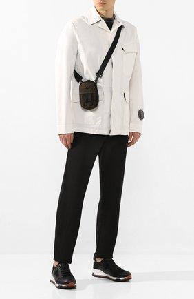 Мужская текстильная сумка STONE ISLAND хаки цвета, арт. 721990420 | Фото 2