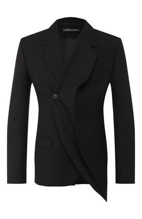 Мужской шерстяной пиджак Y/PROJECT черного цвета, арт. BLAZ28-S18 F107 | Фото 1