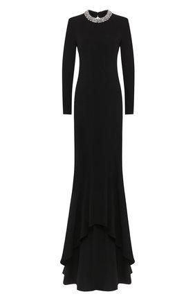Женское платье-макси STELLA MCCARTNEY черного цвета, арт. 599747/SCA06 | Фото 1