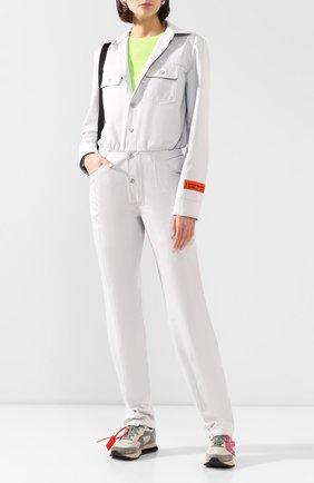 Женский хлопковый комбинезон HERON PRESTON серого цвета, арт. HWDC004R208900010519 | Фото 2