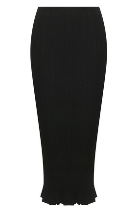 Женская юбка ACNE STUDIOS черного цвета, арт. AF0116/W | Фото 1