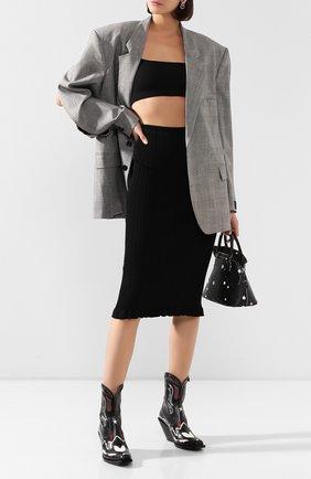 Женская юбка ACNE STUDIOS черного цвета, арт. AF0116/W | Фото 2