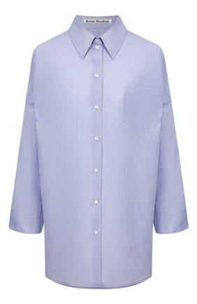 Женская хлопковая рубашка ACNE STUDIOS голубого цвета, арт. AC0210/W | Фото 1