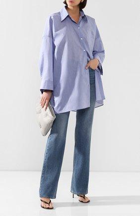 Женская хлопковая рубашка ACNE STUDIOS голубого цвета, арт. AC0210/W | Фото 2