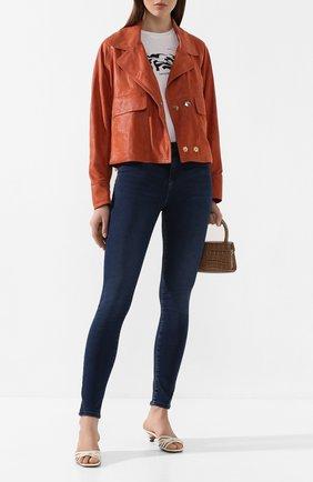 Женские джинсы EMPORIO ARMANI синего цвета, арт. 3H2J20/2D3LZ | Фото 2