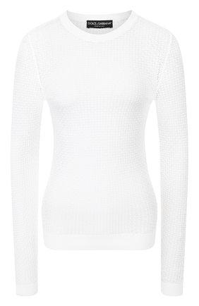 Женская пуловер из вискозы DOLCE & GABBANA белого цвета, арт. FX714T/JAIDV | Фото 1