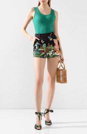 Женские хлопковые шорты DOLCE & GABBANA разноцветного цвета, арт. FTBTQT/GDU62 | Фото 2