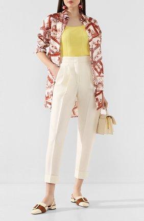 Женские брюки CASASOLA белого цвета, арт. TRS-D-LEBL0N/W00L-SILK-LINEN | Фото 2