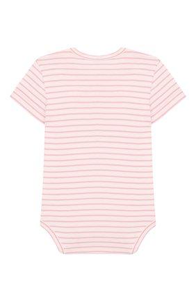 Детское хлопковое боди SANETTA розового цвета, арт. 322837 3813 | Фото 2