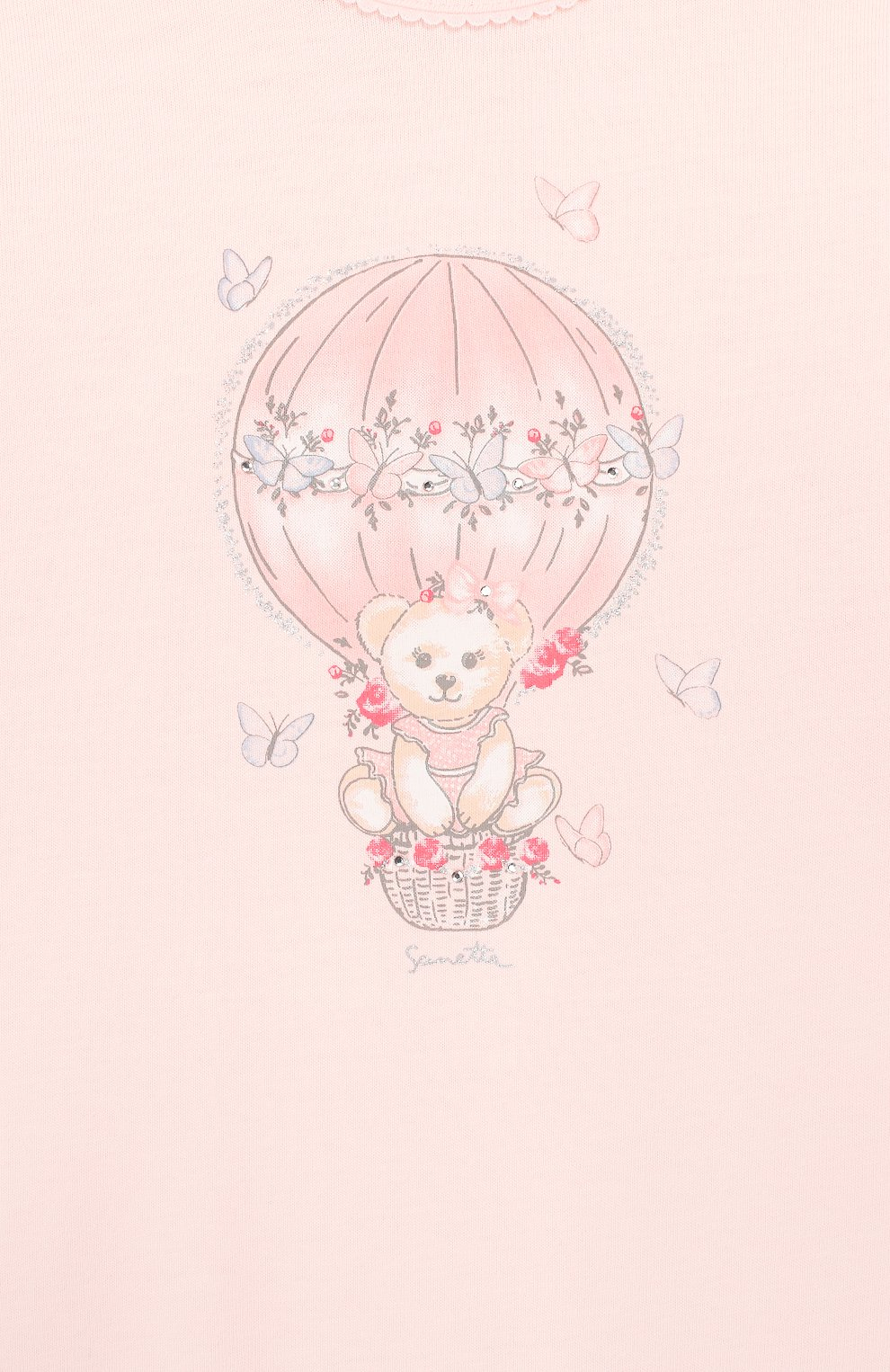 Детский хлопковый комбинезон SANETTA розового цвета, арт. 221521 3990 | Фото 3