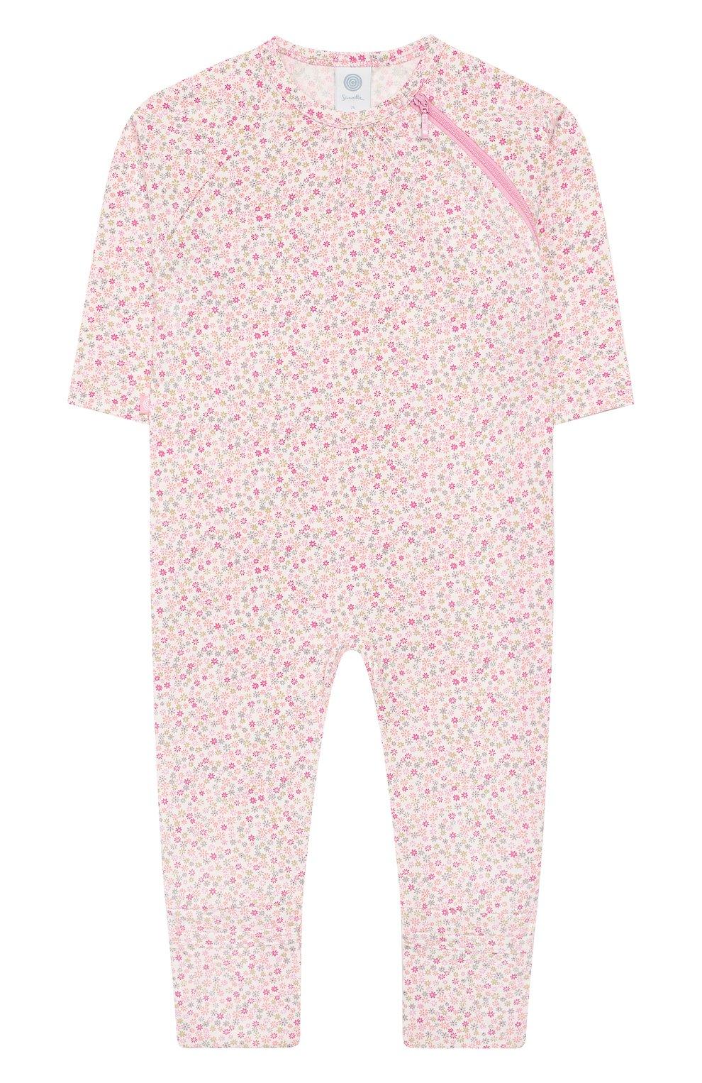 Детский хлопковый комбинезон SANETTA розового цвета, арт. 221524 3813   Фото 1