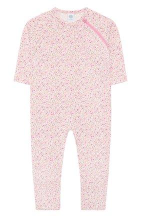 Детский хлопковый комбинезон SANETTA розового цвета, арт. 221524 3813 | Фото 1