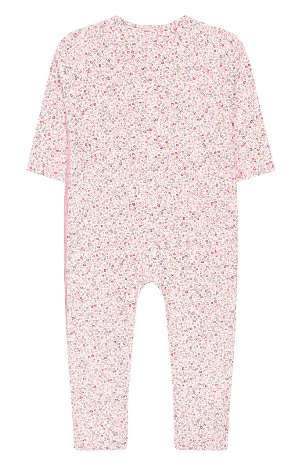 Детский хлопковый комбинезон SANETTA розового цвета, арт. 221524 3813   Фото 2