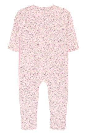 Детский хлопковый комбинезон SANETTA розового цвета, арт. 221524 3813 | Фото 2