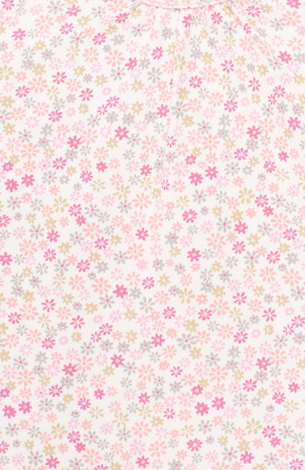 Детский хлопковый комбинезон SANETTA розового цвета, арт. 221524 3813   Фото 3