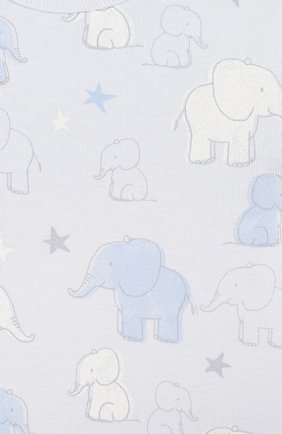 Детское хлопковое боди SANETTA голубого цвета, арт. 322882 50308 | Фото 3