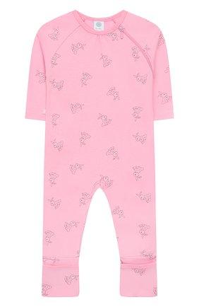 Детский хлопковый комбинезон SANETTA розового цвета, арт. 221523 3813 | Фото 1