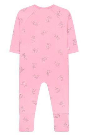 Детский хлопковый комбинезон SANETTA розового цвета, арт. 221523 3813 | Фото 2
