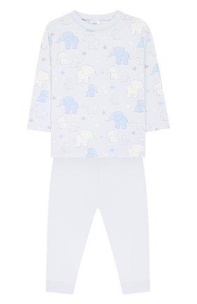 Детский хлопковая пижама SANETTA голубого цвета, арт. 221531 50308 | Фото 1
