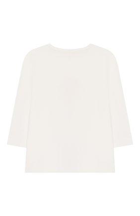 Детский хлопковая пижама SANETTA белого цвета, арт. 221522 1427 | Фото 3