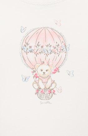 Детский хлопковая пижама SANETTA белого цвета, арт. 221522 1427 | Фото 4