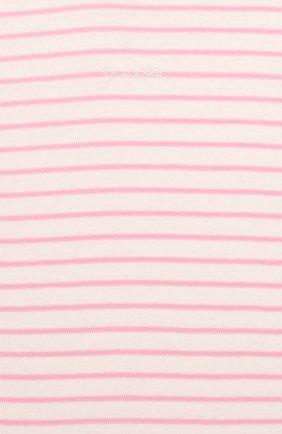Детское хлопковое боди SANETTA фуксия цвета, арт. 322919 3538 | Фото 4