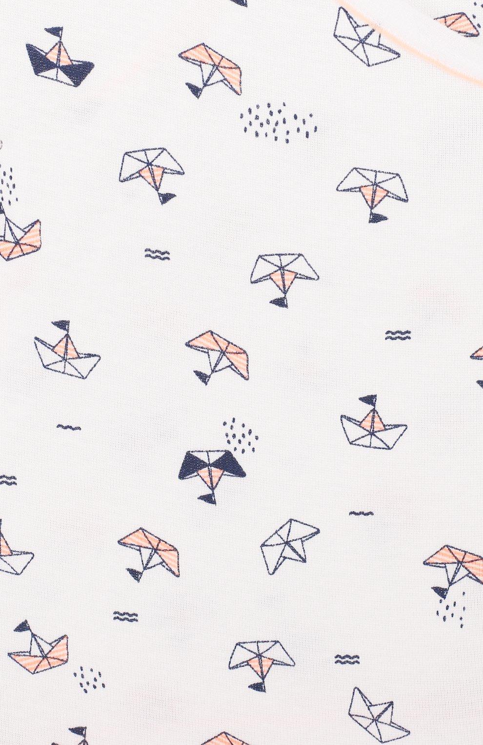 Детское хлопковое боди SANETTA белого цвета, арт. 322859 0010 | Фото 3