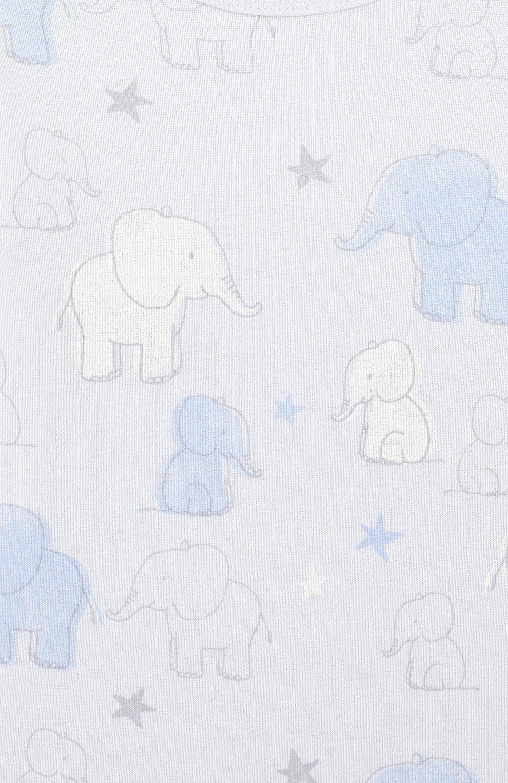 Детское хлопковое боди SANETTA голубого цвета, арт. 322881 50308 | Фото 3