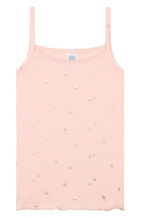 Детская хлопковая майка SANETTA розового цвета, арт. 346084 3990 | Фото 1
