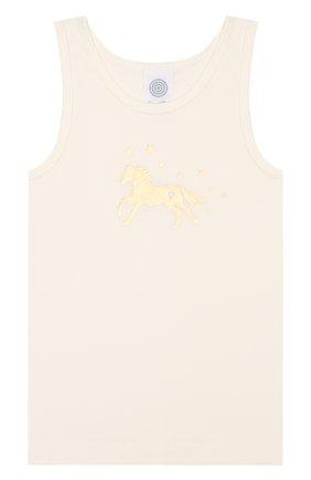 Детская комплект из 2-х маек SANETTA белого цвета, арт. 334716 1427 | Фото 2