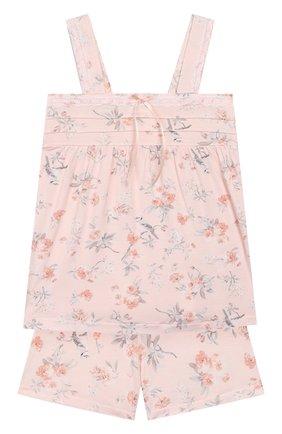 Детская пижама LA PERLA розового цвета, арт. 71081/2A-6A | Фото 1