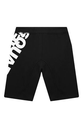 Детские хлопковые шорты DSQUARED2 черного цвета, арт. DQ0432-D00RG   Фото 2