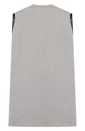 Детское хлопковое платье DSQUARED2 серого цвета, арт. DQ040E-D00ND | Фото 2