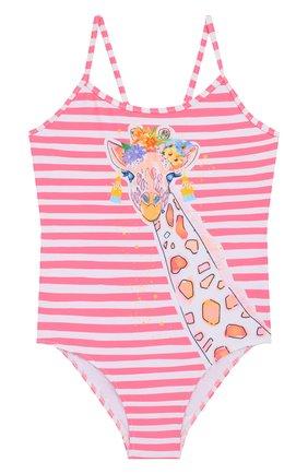Детского слитный купальник SUNUVA розового цвета, арт. S2241/1-6 | Фото 1