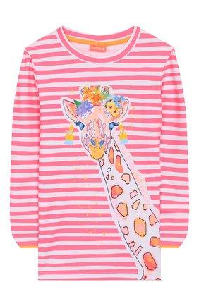 Детская пляжный лонгслив SUNUVA розового цвета, арт. S2240/7-14 | Фото 1