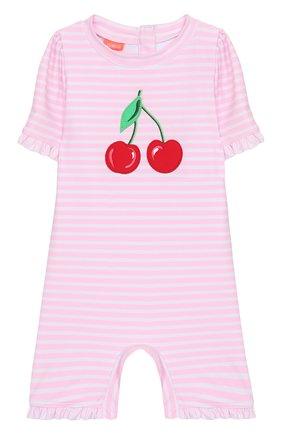 Детского плавательный комбинезон SUNUVA розового цвета, арт. S2033 | Фото 1