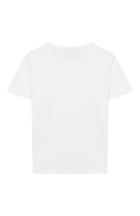 Детская хлопковая футболка INDEE белого цвета, арт. GABY/RAINB0W/WHITE/8A-10A | Фото 2