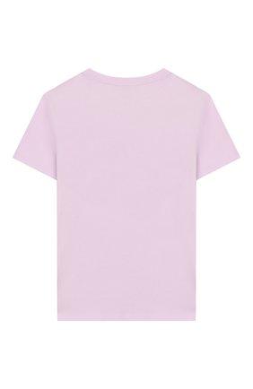 Детская хлопковая футболка INDEE светло-розового цвета, арт. GABY/DAY 0FF/BLUSH/12A-18A | Фото 2