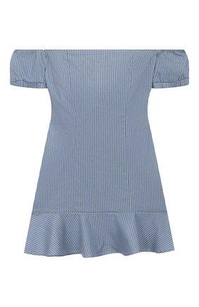 Детское хлопковое платье INDEE синего цвета, арт. GANGE/DENIM/8A-10A | Фото 1
