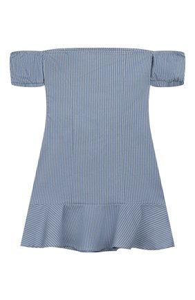 Детское хлопковое платье INDEE синего цвета, арт. GANGE/DENIM/8A-10A | Фото 2