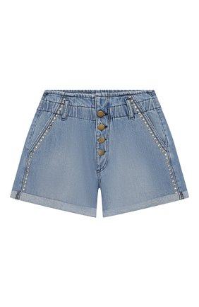 Детские джинсовые шорты INDEE голубого цвета, арт. GARFIELD/DENIM/12A-18A | Фото 1