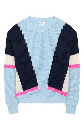 Детский хлопковый пуловер INDEE голубого цвета, арт. GHANDI/AEGEAN/12A-18A | Фото 1