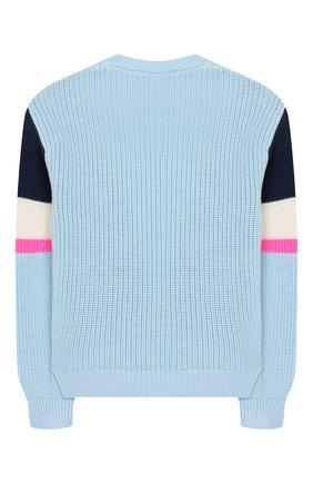 Детский хлопковый пуловер INDEE голубого цвета, арт. GHANDI/AEGEAN/12A-18A | Фото 2