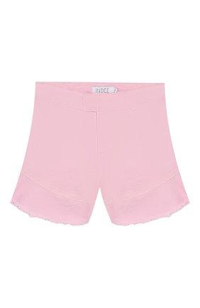 Детские хлопковые шорты INDEE светло-розового цвета, арт. GISELE/BLUSH/8A-10A | Фото 1