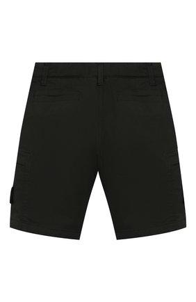 Детские хлопковые шорты STONE ISLAND темно-зеленого цвета, арт. 7216L0512/6-8 | Фото 2