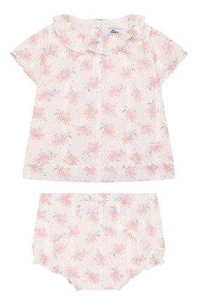 Детский комплект из топа и шорт TARTINE ET CHOCOLAT светло-розового цвета, арт. TQ37021/1M-1A | Фото 1