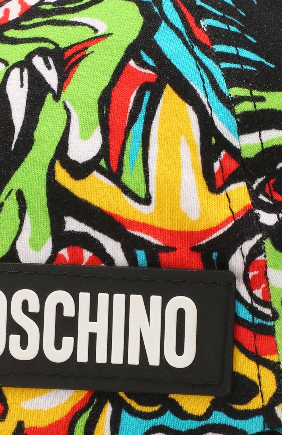 Детская хлопковая бейсболка MOSCHINO KID разноцветного цвета, арт. HSX001/LDB37   Фото 3