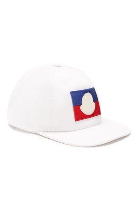 Детская хлопковая бейсболка MONCLER белого цвета, арт. F1-954-3B704-20-04863 | Фото 1
