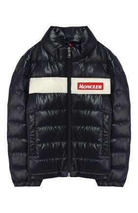 Детский пуховая куртка MONCLER синего цвета, арт. F1-954-1A506-20-68950/4-6A | Фото 1