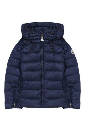 Детского пуховая куртка MONCLER темно-синего цвета, арт. F1-954-1A131-10-53048/4-6A   Фото 1